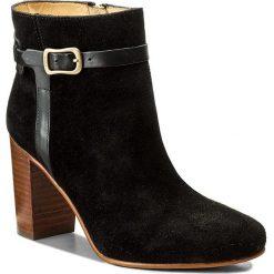 Botki GANT - Alma 15541051 Black G00. Czarne buty zimowe damskie marki GANT, ze skóry, na obcasie. W wyprzedaży za 469,00 zł.