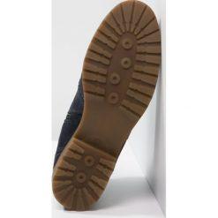 Pier One Botki blue. Niebieskie buty zimowe damskie marki Pier One, z materiału. W wyprzedaży za 191,20 zł.