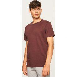Gładki t-shirt regular fit - Brązowy. Brązowe t-shirty męskie marki LIGNE VERNEY CARRON, m, z bawełny. Za 49,99 zł.