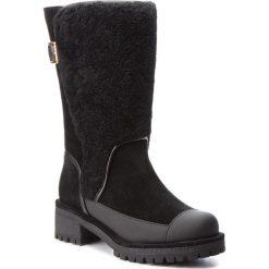 Kozaki TORY BURCH - Sloan Shearling Boot 49198 Perfect Black/Perfect Black 004. Czarne buty zimowe damskie Tory Burch, z materiału, na obcasie. W wyprzedaży za 1679,00 zł.