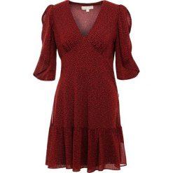 MICHAEL Michael Kors CASCADE DRESS Sukienka letnia poppy red/black. Czerwone sukienki letnie marki MICHAEL Michael Kors, l, z materiału. Za 899,00 zł.