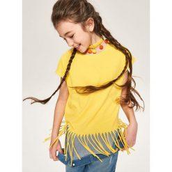Bluzki dziewczęce: Bluzka z frędzlami - Żółty
