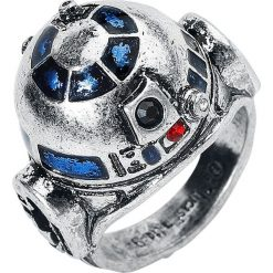 Star Wars R2-D2 Pierścień srebrny. Szare sygnety męskie Star Wars, srebrne. Za 99,90 zł.