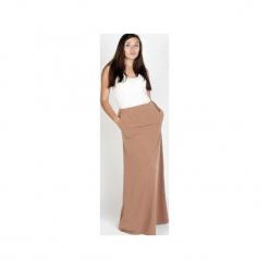 Spódnica maxi kakao. Brązowe długie spódnice Sylwia snoch, z jersey, dopasowane. Za 130,00 zł.