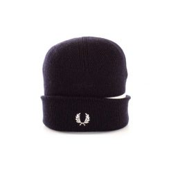 Czapki Fred Perry  C9102. Niebieskie czapki zimowe męskie Fred Perry. Za 306,93 zł.
