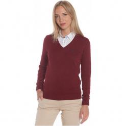 Polo Club C.H..A Sweter Damski L Burgundowy. Czerwone swetry klasyczne damskie marki Polo Club C.H..A, l, dekolt w kształcie v. W wyprzedaży za 239,00 zł.