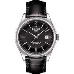 PROMOCJA ZEGAREK TISSOT Ballade Gent T108.408.16.057.00. Czarne zegarki męskie TISSOT, ze stali. W wyprzedaży za 3388,00 zł.