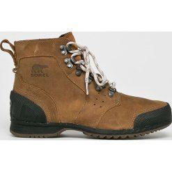 Sorel - Buty. Brązowe buty trekkingowe męskie Sorel, z gumy, na sznurówki, outdoorowe. Za 569,90 zł.