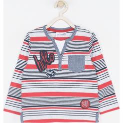 Koszulka. Szare t-shirty chłopięce z długim rękawem SUPER COOL, z aplikacjami, z bawełny. Za 45,90 zł.