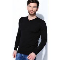 Swetry klasyczne męskie: Czarny Sweter Smart Casual