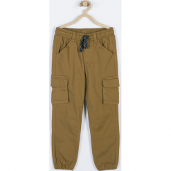 Spodnie. Brązowe chinosy chłopięce MOTORCYCLE CLUB, z bawełny. Za 89,90 zł.