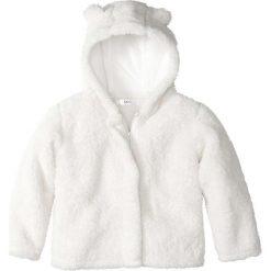 """Bluzy dziewczęce rozpinane: Bluza rozpinana z polaru """"baranek"""" bonprix biel wełny"""