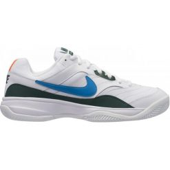 Buty sportowe męskie: Nike Buty Do Tenisa Court Lite Clay White Neo Turq-Blue Force-Hyper Crimson 46