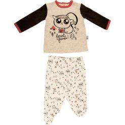 Spodnie niemowlęce: 2-częściowy zestaw w kolorze brzoskwiniowo-czarnym