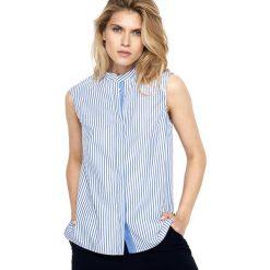 Bluzki damskie: Bluzka w kolorze biało-niebieskim