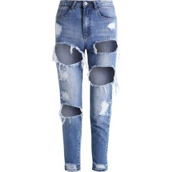Rurki damskie: Missguided RIOT Jeansy Slim Fit mid blue
