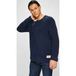 Tommy Jeans - Sweter. Czarne swetry klasyczne męskie Tommy Jeans, l, z bawełny, z okrągłym kołnierzem. Za 399,90 zł.