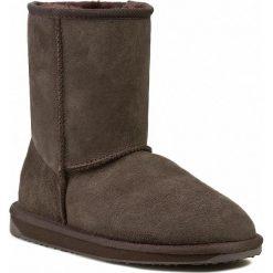 Buty EMU AUSTRALIA - Stinger Lo  Chocolate. Czarne buty zimowe damskie marki EMU Australia, ze skóry, na niskim obcasie. W wyprzedaży za 469,00 zł.