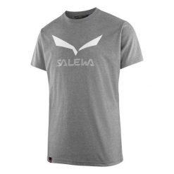 T-shirty męskie: Salewa Koszulka męska Solidlogo Dry Grey Melange r. L (27018-0620)