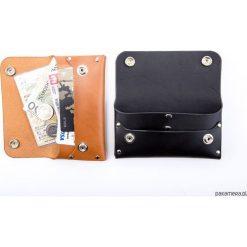 Skórzany portfel na karty, banknoty i dowód rej. Szare portfele damskie marki Pakamera, ze skóry. Za 149,00 zł.