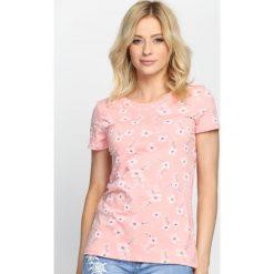 Różowy T-shirt Honey Love. Czerwone bluzki damskie marki Born2be, l. Za 24,99 zł.
