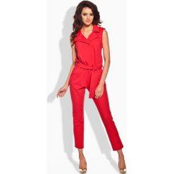 Odzież damska: Czerwony Elegancki Kombinezon