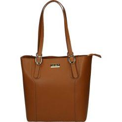 Torba - 173-002-O R C. Żółte torebki klasyczne damskie marki Venezia, ze skóry. Za 329,00 zł.