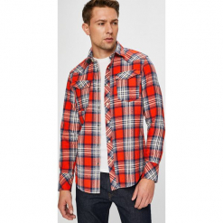 G-Star Raw - Koszula. Szare koszule męskie na spinki marki S.Oliver, l, z bawełny, z włoskim kołnierzykiem, z długim rękawem. Za 559,90 zł.