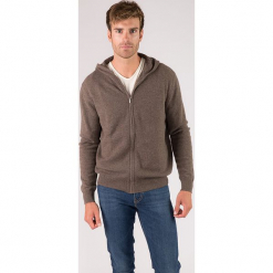Kaszmirowy kardigan w kolorze szarobrązowym. Czarne swetry rozpinane męskie marki Reserved, m, z kapturem. W wyprzedaży za 434,95 zł.