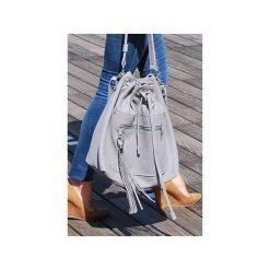 Skórzana torba typu worek XL. Szare torebki klasyczne damskie Pracownia6-9, duże. Za 270,00 zł.