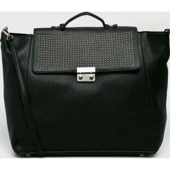 Pepe Jeans - Torebka. Czarne torebki klasyczne damskie marki Pepe Jeans, w paski, z jeansu, duże. Za 339,90 zł.