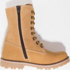 Fullstop. Śniegowce camel. Szare buty zimowe chłopięce marki fullstop., z materiału. W wyprzedaży za 136,95 zł.