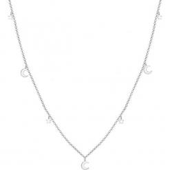 Srebrny naszyjnik z elementami ozdobnymi - dł. 40 cm. Żółte naszyjniki damskie marki METROPOLITAN, pozłacane. W wyprzedaży za 90,95 zł.