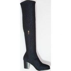 XTI Muszkieterki navy. Niebieskie buty zimowe damskie marki Xti, z materiału. W wyprzedaży za 149,50 zł.