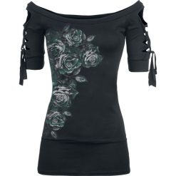 Alchemy England Dies Irae Koszulka damska czarny/zielony. Czarne bluzki asymetryczne Alchemy England, xl, w kolorowe wzory, z dekoltem w łódkę. Za 121,90 zł.
