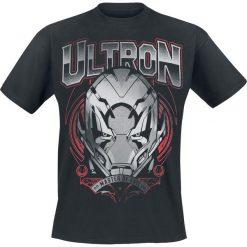 T-shirty męskie z nadrukiem: Avengers Age Of Ultron – Ultron – Master Of Evil T-Shirt czarny