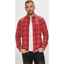 Only & Sons - Koszula. Różowe koszule męskie na spinki marki Only & Sons, l, w kratkę, z bawełny, z klasycznym kołnierzykiem, z długim rękawem. Za 149,90 zł.