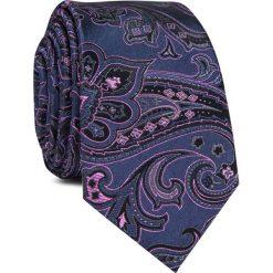 Krawat jedwabny KWWR000346. Różowe krawaty męskie marki Reserved. Za 129,00 zł.