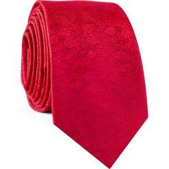 Krawat KWTR001790. Czerwone krawaty męskie Giacomo Conti, z mikrofibry, eleganckie. Za 69,00 zł.