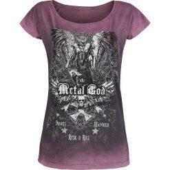 Bluzki asymetryczne: Metal God by Rob Halford Trinidad Saviour Koszulka damska jasnofioletowy (Lilac)
