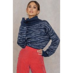 Swetry oversize damskie: Colourful Rebel Sweter Do Knitwear – Blue