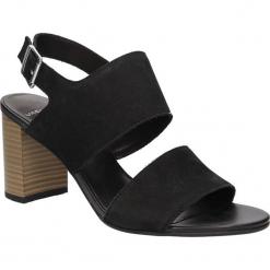 Sandały zamszowe na słupku Vagabond 4337-250-20. Czarne sandały damskie na słupku marki Vagabond, z zamszu. Za 259,99 zł.
