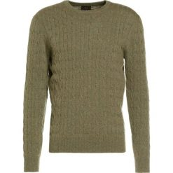J.CREW Sweter olive. Zielone swetry klasyczne męskie marki J.CREW, l, z kaszmiru. W wyprzedaży za 881,30 zł.