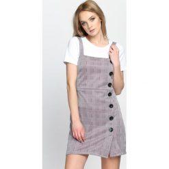 Szaro-Fuksjowa Sukienka Time Flies. Szare sukienki mini marki Born2be, na lato, s. Za 94,99 zł.