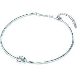 Naszyjniki damskie: Posrebrzany naszyjnik z elementem ozdobnym – dł. 42,5 cm