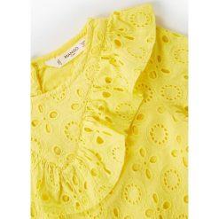 Odzież dziecięca: Mango Kids – Sukienka dziecięca Yellow 110-164 cm