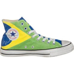 Trampki męskie: Converse CHUCK TAYLOR ALL STAR HI GRAPHICS CANVAS Tenisówki i Trampki wysokie brasil flag stone washed
