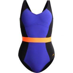 Stroje kąpielowe damskie: Speedo CRYSTALGLEAM  Kostium kąpielowy black/ultramarine/fluo orange
