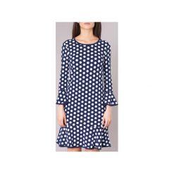 Sukienki krótkie MICHAEL Michael Kors  SIMPL DOT FLNCE DRS. Niebieskie sukienki mini marki MICHAEL Michael Kors, xs, z krótkim rękawem. Za 879,20 zł.