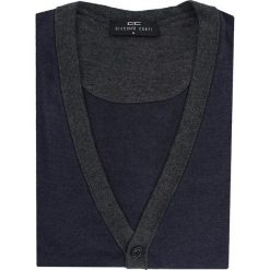 Sweter CORNELIO 13-26SR. Brązowe swetry rozpinane męskie marki Giacomo Conti, na jesień, m, z materiału. Za 169,00 zł.